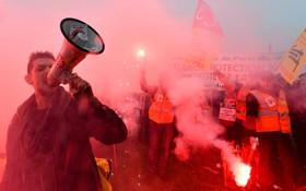 تظاهرات کارکنان راه آهن در فرانسه