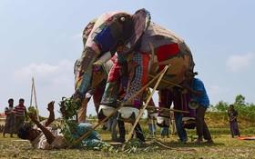 مراسمی در اردوگاه آوارگان روهینگیای در بنگلادش