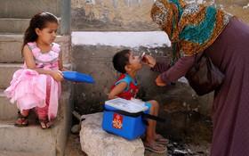 واکسیناسیون فلج اطفال در کراچی پاکستان