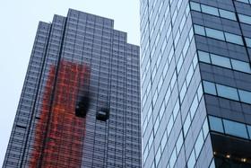 آتش سوزی در برج ترامپ در نیویورک