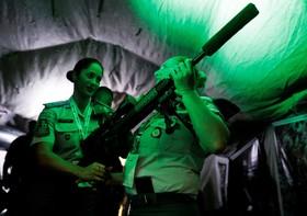 نمایشگاه سلاح در سائوپائولو در برزیل و سلاح تک تیراندازان