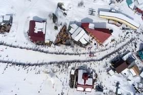 نمایی از یک پیست اسکی در روسیه