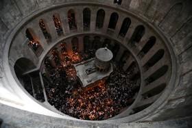 مراسم عید پاک در کلیسای قدیمی مقبره مقدس در قدس