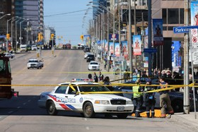 حمله راننده یک خودرو در تورنتو به عابران و صحنه حادثه