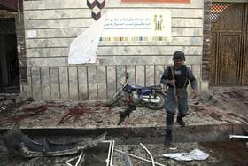 محلی که انفجار انتحاری در کابل رخداده است