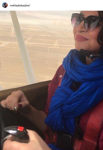 خانم بازیگر در حال خلبانی! +عکس