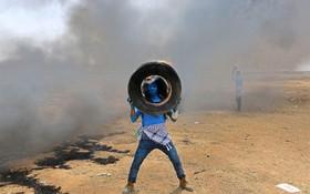 تظاهرات در غزه علیه اشغالگران فلسطین