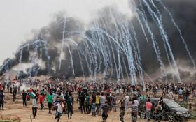 تظاهرات در غزه علیه اشغالگران صهیونیست
