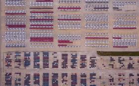 خودرو های برقی تولید شده در پارکینگی در چین