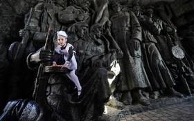 نمایشگاه به مناسبت جنگ دوم در کیف اوکراین