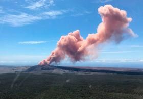 تصویری از آتش فشانی مواد مذاب در هاوایی آمریکا