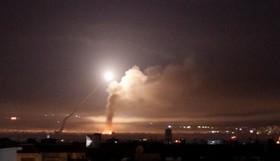 تصویر شلیک موشک از خاک سوریه به سوی مناطق اشغالی