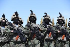 رژه نیروهای نظامی قزاقستان