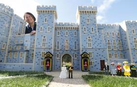 ساخت ماکت قصر ویندسور و مراسم عروسی نوه ملکه انگلیس با لگو