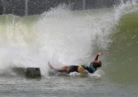 حادثه برای یک ورزشکار اسکی روی آب