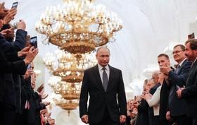 ولادیمیرپوتین در مراسم سوگند ریاست جمهوری روسیه