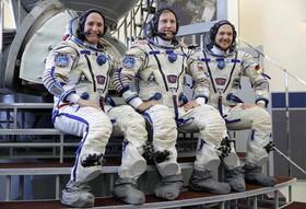 فضانوردان آمریکا، روسیه و اروپا در جلسه تمرینی پیش از اعزام به ماموریت مشترک فضایی در ایستگاه فضایی بین المللی- مسکو/ عکس: ایتارتاس