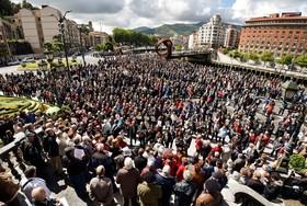 تظاهرات بازنشستگان در بیلبائو اسپانیا در اعترض به کم بودن حقوق