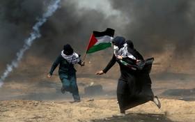 تظاهرات فلسطینی ها در غزه علیه انتقال سفارت آمریکا به قدس اشغالی