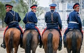 تمرین نیروهای پلیس در روستوف در روسیه
