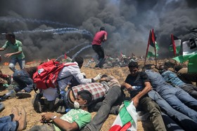 خان یونس تظاهرات فلسطینی ها علیه رژیم اشغالگر قدس