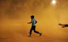 توفان خاک در دهلی هند