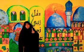 شرکت یک زن عراقی در انتخابات مجلیس این کشور