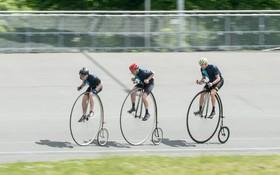 مسابقه دچرخه سواری با دوچرخه های قدیمی