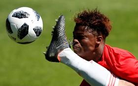 مسابقه تیم نوجوانان بلژیک علیه اسپانیا و بازیکن بلژیکی لارگی رمضان