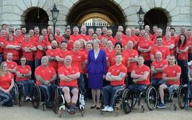 دیدار ترزا می نخست وزیر انگلیس با تیم ورزشی ورزشکاران معلول نظامی انگلیس