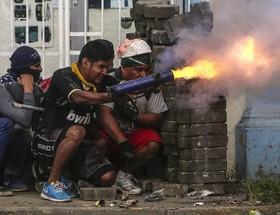 تظاهرات ضد دولتی در شهر ماسایا در نیکاراگوئه