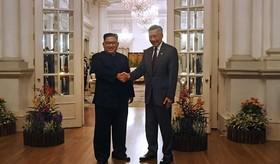 دیدار رهبرکره شمالی با نخست وزیر سنگاپور