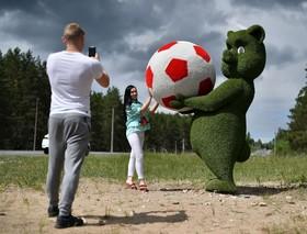 عکاسی پیش از شروع مسابقات جام جهانی ۲۰۱۸ روسیه  منبع