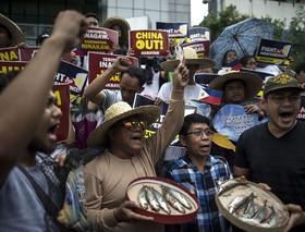 اعتراضات ماهیگیران در مانیل فیلیپین