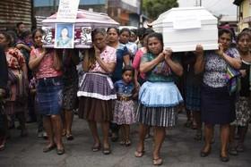 تشییع پیکر قربانیان آتشفشان اخیر در گواتمالا