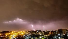 رعد و برق شبانه تهران