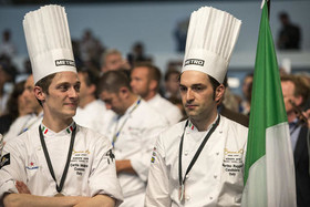 سرآشپزان برنده در بزرگترین مسابقه بینالمللی آشپزی در شهر تورین ایتالیا