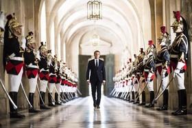 """""""امانوئل ماکرون"""" رییس جمهوری فرانسه در کاخ ورسای و در مراسم سخنرانی در جمع اعضای دو مجلس فرانسه"""