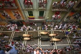 "جشنواره سالانه ""سان فرمین"" در شهر پامپلونا اسپانیا"