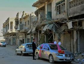 ماشین گل زده در شهر موصل عراق