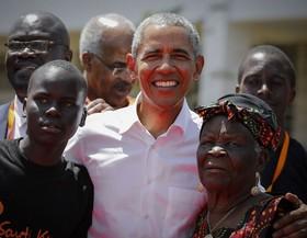 رییس جمهور سابق آمریکا باراک اوباما در مراسم افتتاحیه یک رویداد ورزشی در کنیا