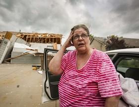 خسارت گردباد به خانههای آیووا، ایالات متحده آمریکا