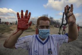 تظاهرات هفتگی ضد اسراییلی جوانان فلسطینی در مرز باریکه غزه و اسراییل