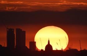 غروب آفتاب در لندن انگلیس