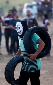تظاهرکننده فلسطینی در نوار غزه