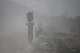 گردوغبار شدید در شهر کاتماندو نپال