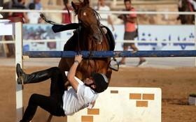 حادثه در مسابقه اسب سواری در بنغازی لیبی