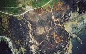 آتش سوزی منطقه جنگلی در ایرلند موجب بیرون آمدن نشان مربوط به جنگ جهانی دوم برای راهنمایی خلبان ها از زیر انبوه بوته های جنگلی شد