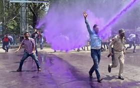 تظاهرات در سرینگر هند