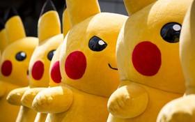 نمایش گروهی از شخصیت های کارتون پکومون در ژاپن
